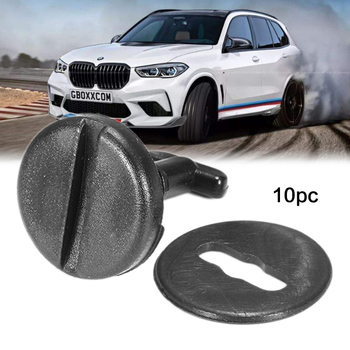 10Pcs Car Universal Snap Floor Mat Carpet Clips Fastener Retainer For BMW E36 E46 E38 E39 image