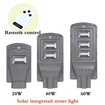 Новый солнечный уличный свет интегрированное Наружное освещение 20 Вт 40 Вт 60 Вт светодиодный солнечный умная лампа с палочным рычагом