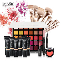 Imagic Vrouwen Professionele Make-Up Kit Lncludes Oogschaduw Lippenstift Eyeliner En Blush Foundationand 9 Sets Van Borstels(China)