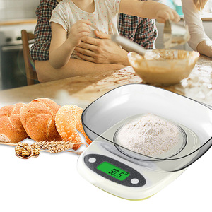7kg/3kg 0.1/1g Kitchen Scale High Precision Mini LCD Digital Display Scale Gram Weighing Jewelry Food Measure Scale With Bowl(China)