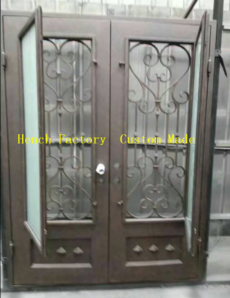 Shanghai Hench Brand China Factory 100% Custom Made Sale Australia Iron Door Glass