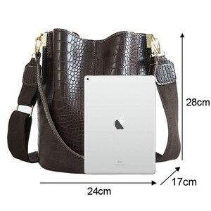 Image 2 - Krokodyl PU skórzana torebka dla kobiet Lady Crossbody na ramię torba Top marka luksusowy projektant torba feminina totes sac a main