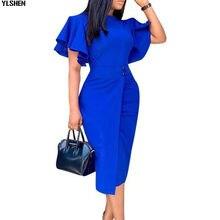 アフリカドレス女性服アフリカドレスdashikiセクシーなフリルの服プラスサイズ夏アンカラボディコンドレス