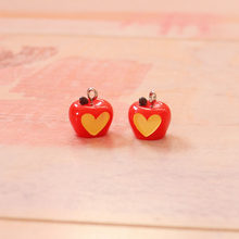5PCS Resin Apple Charms Jewelry Necklace Pendant Keychain Charms For Earring DIY Bracelet Decorations Jewelry Accessory(China)