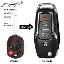 Jingyuqin 315 mhz 4d63 atualizado flip chave remota para ford escape focus c-max trânsito f250 f350 f450 f550 hu101/fo38 oucd6000022