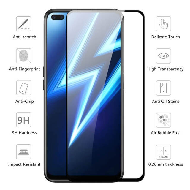 Protective Glass on the For Oppo Realme 6 Pro Tempered Glass For Realmi 6 Pro 6i Realme6 6Pro Safety Screen Protector Full Cover
