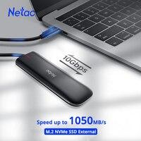 Netac NVME SSD 500gb zewnętrzny dysk twardy SSD 1tb M.2 SSD NVME 250gb przenośny zewnętrzny hd dysk półprzewodnikowy dla Laptop