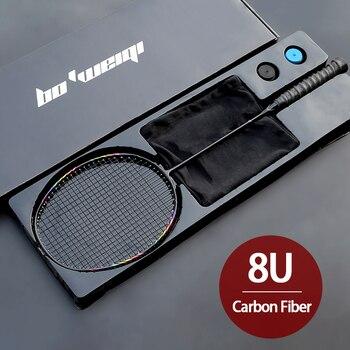 Супер-светильник 8U из углеродного волокна, ракетки для бадминтона с сумками, профессиональные спортивные ракетки для взрослых и детей