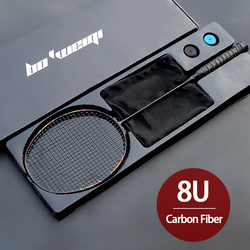 Raquetas de bádminton de fibra de carbono súper ligeras 8U con bolsas de cuerda profesional raqueta ensartada Padel deportes para adultos niños
