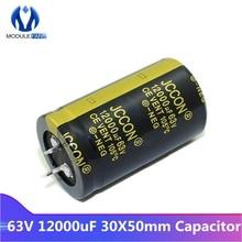 С алюминиевой крышкой, 63В 12000 мкФ 30X50 Алюминий электролитический конденсатор с алюминиевой крышкой, высокая частота низкая ESR 30*50 мм X 30*50 мм сквозное отверстие фиксированный конденсатор