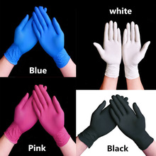 Nitrile Gloves Rubber Disposable Black Pe 20/50/100pcs Experiment Beauty