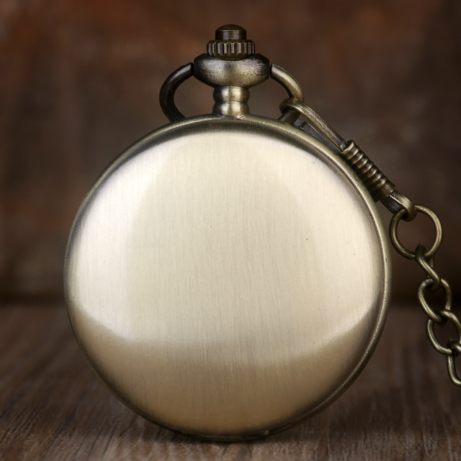 Antique Bronze Polish Smooth Quartz Pocket Watch 37cm Necklace Chain Pendant Fob Watch Men Women Gifts Fob Pocket Watches