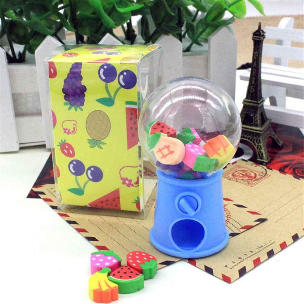 1 Buah Bentuk Gashapon Mesin Penghapus Buah Hewan Natal Digital Rubber Botol Anak Mahasiswa Lucu Alat Tulis Hadiah