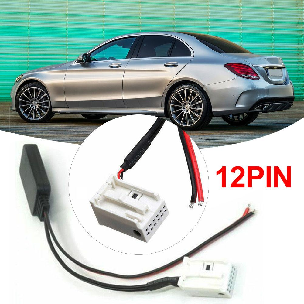 Bluetooth Audio Cable 12Pin Bluetooth Adapter <font><b>Aux</b></font> Cable Fit For <font><b>Mercedes</b></font> <font><b>Benz</b></font> W169 W245 W203 W209 <font><b>W164</b></font> image