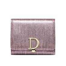 купить D Letter Women Fashion Leather Short Wallet Female Clutch Cellphone Bag Card Holder Lady Luxury New Coin Purse Wallets for Woman по цене 722.31 рублей
