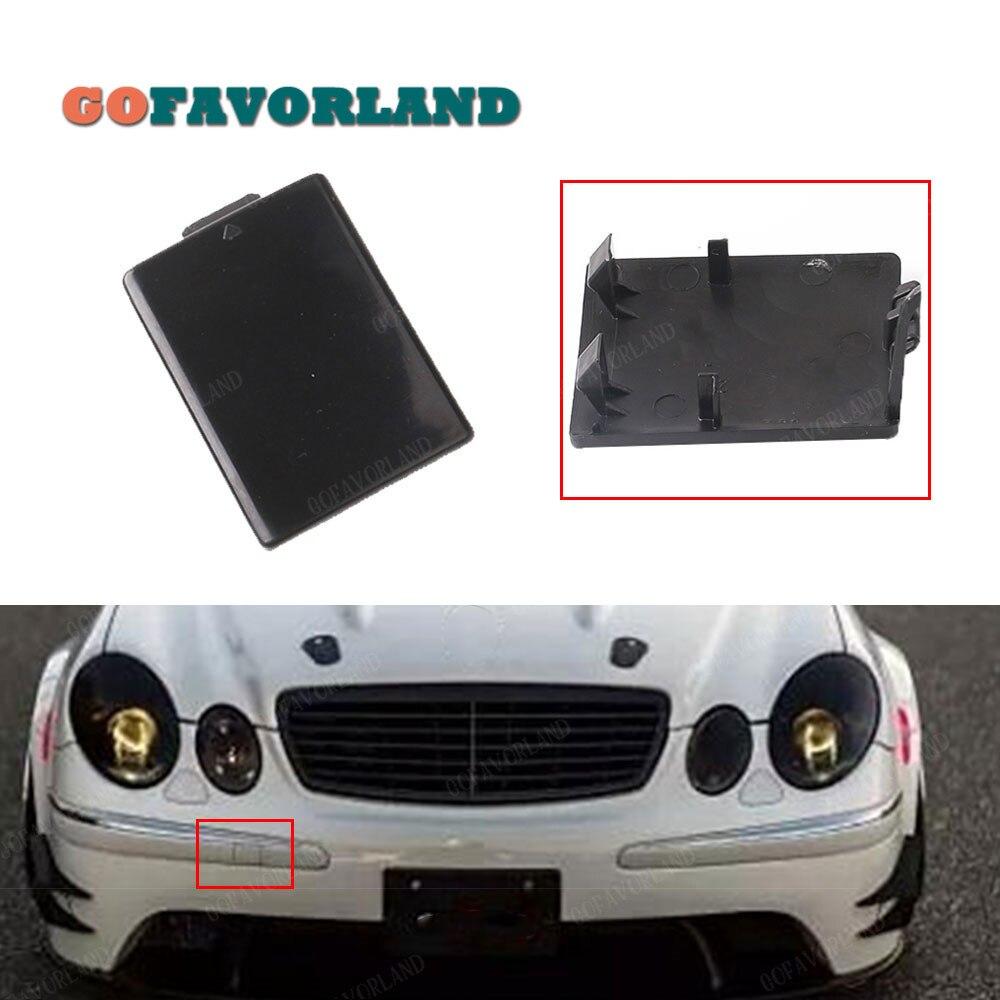 Крышка крюка для переднего бампера, крышка без краски 2118850026 для Mercedes-Benz W211 2003 2004 2005 2006 E320 E350 E55