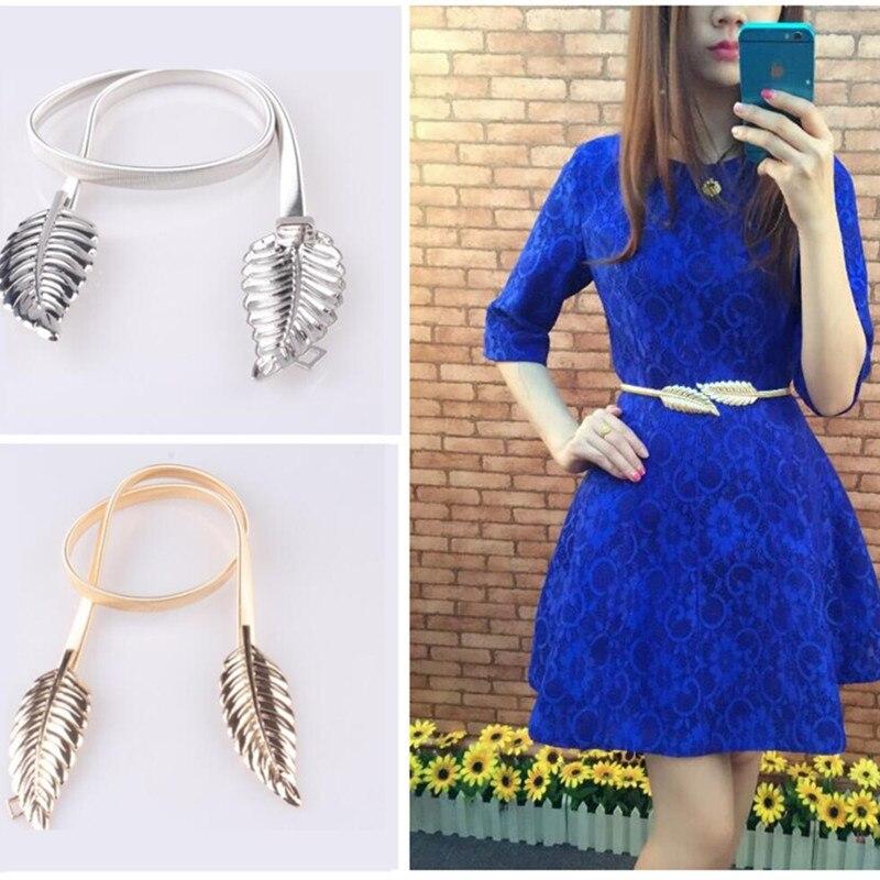 2019 New Women's Spring Belts Metal Waist Chain Alloy Leaf Fashion Luxury Belt Dress Wedding Coat Accessories Strap