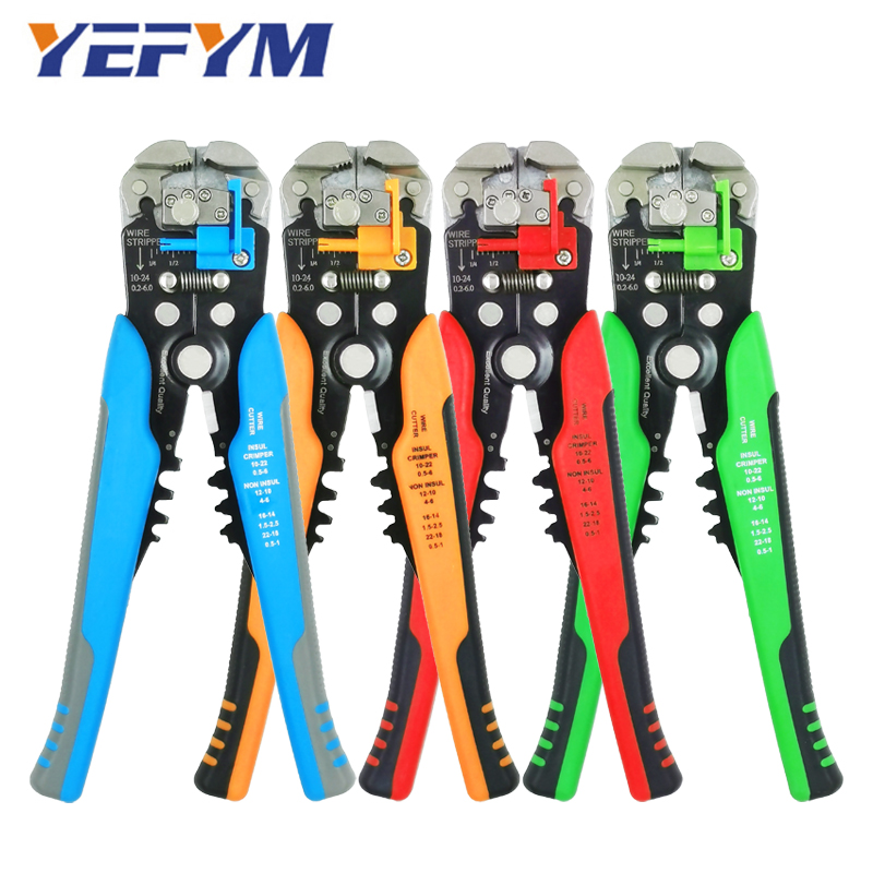 Repair Tools Multi Wire Stripper Pliers Cutter Clamp 6mm2 Functional Mini YEFYM Carbon Steel Multifunctional Electrical