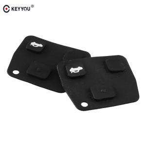 KEYYOU 2X For Toyota Avensis Corolla Camry Yaris Prado for Lexus Rav4 Replacement Remote Car Key Fob Silicon Rubber 3 Button Pad(China)
