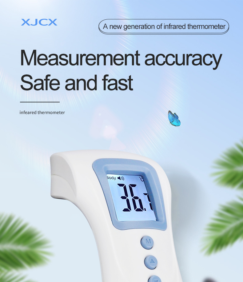 Forehead Thermometer Non Contact Infrared Thermometer Body Temperature Fever Digital Measure Tool For Baby Adult