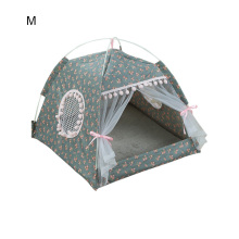2019 Portable Foldable Pet Dog Tent House Breathable Print Pet Cat House With Net Outdoor Indoor Mesh Cat Small Dog Tent House