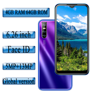 F2 Pro Quad core 6.26inch Water Drop screen Face id Unlocked 4G RAM 64G ROM Smartphones Mobile Phones celulars Android Phones
