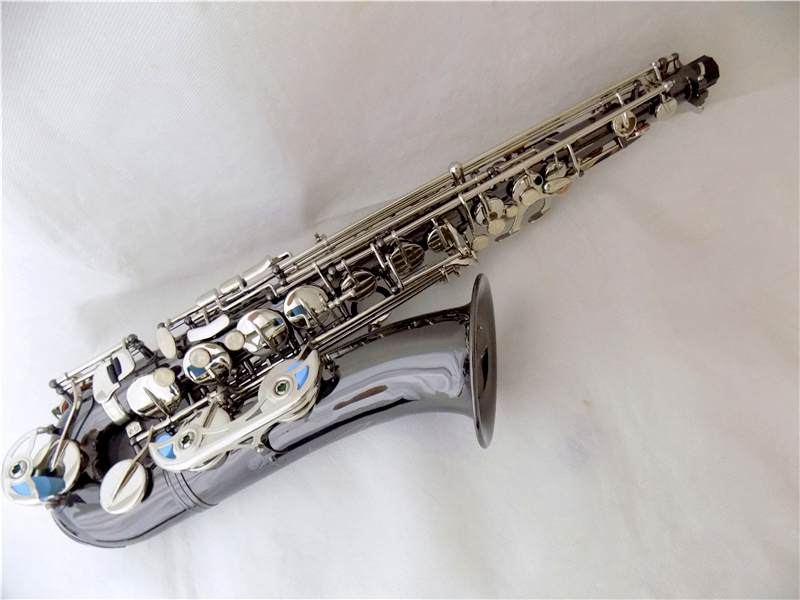 Yellow brass C Melody Saxophone With Case Black nickel Sax Woodwind Musical Instruments
