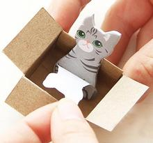 4pcs/lot kawaii cat series Easy to carry notes tag sticky Student memo decoration note pada stationery