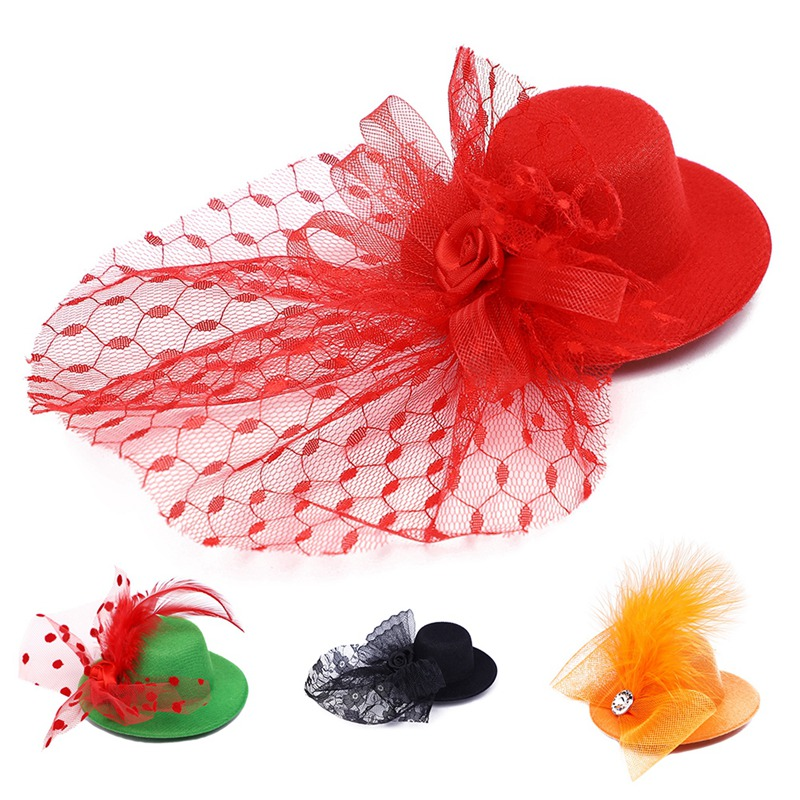 Cute Feather Princess Crown Dog Cat Pet Hair Clip Halloween Party Photography Decoration Pet Supplies Gift For Kitty Puppy