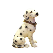 Dog-Statue Decoration Simulation-Dalmatian Creative Figurines Art--Craft Resin Home Courtyard