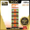 YCDC 10X AG10 батарея для сотовых монет для часов 2018 Самая низкая цена --- всего $0,79 USD