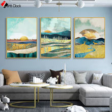 Abstract landscape canvas wall art painting living room poster