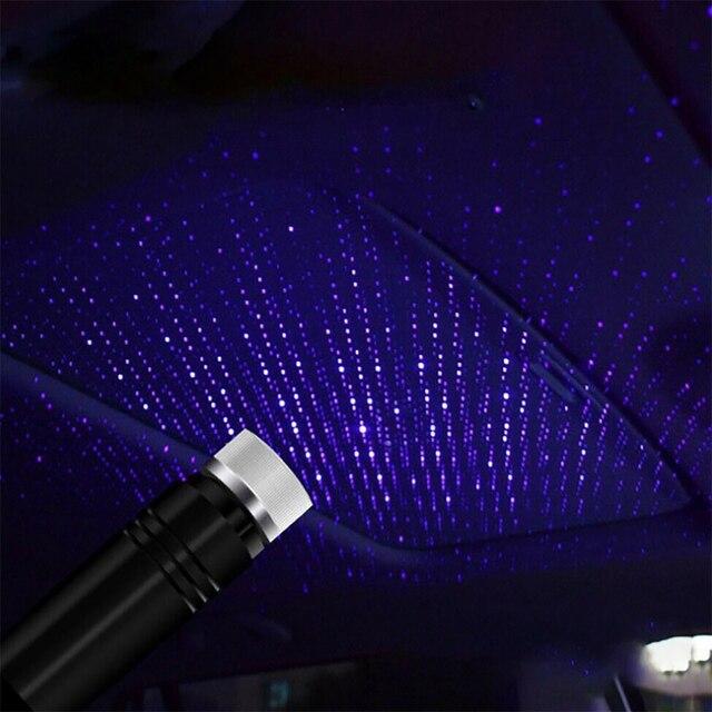 Mini LED Car Roof Star Night Light Projector Atmosphere Galaxy Lamp USB Decorative Lamp Adjustable Car Interior Decor Light 3