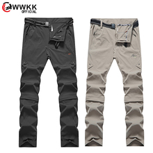 WWKK 2020 Men's Summer Quick Dry Hiking Removable Pants Outdoor Sports Man Campi