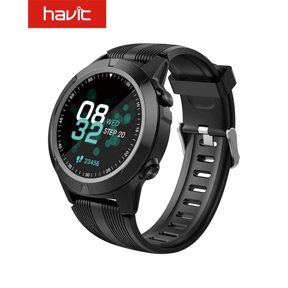 Havit GPS Sport Smart Watch Capacitor Full Round Screen Operation for Built-in GPS, Compass, Air Pressure IP67 Waterproof