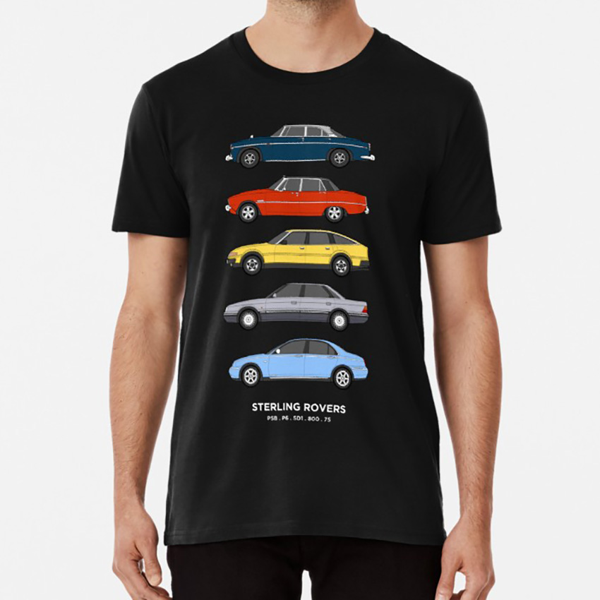 RETRO BRIT ROVER GROUP CLASSIC CAR ROVER 800 COUPE t-shirt BRITISH.
