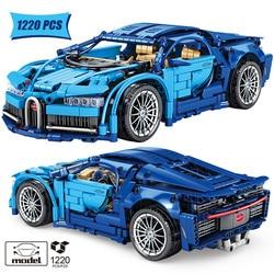 1:14 City Technical Supercar Sports Car Model Building Blocks Creator Mechanical Racing Vehicle Racer MOC Bricks Toys For Kids