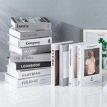 Falso livro decoração de moda criativa marca decorativa livro café decoração de luxo hotel simulação modelo de livro clube decoração de casa