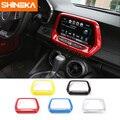SHINEKA ABS 5 Farben GPS Navigation Panel Abdeckung Medien Bildschirm Rahmen 8,0 zoll 6th Gen für Chevrolet Camaro 2017 + auto Styling