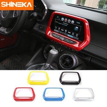 SHINEKA ABS 5 kolorów nawigacja GPS Panel obudowa Media ramka ekranu 8.0 cala 6th Gen dla chevroleta Camaro 2017 + Car Styling