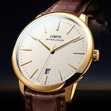 สวิตเซอร์แลนด์ LOBINNI นาฬิกาผู้ชายหรูหรายี่ห้อ Venus Chronograph คู่มือผู้ชายนาฬิกา Sapphire relogio masculino L12028 4