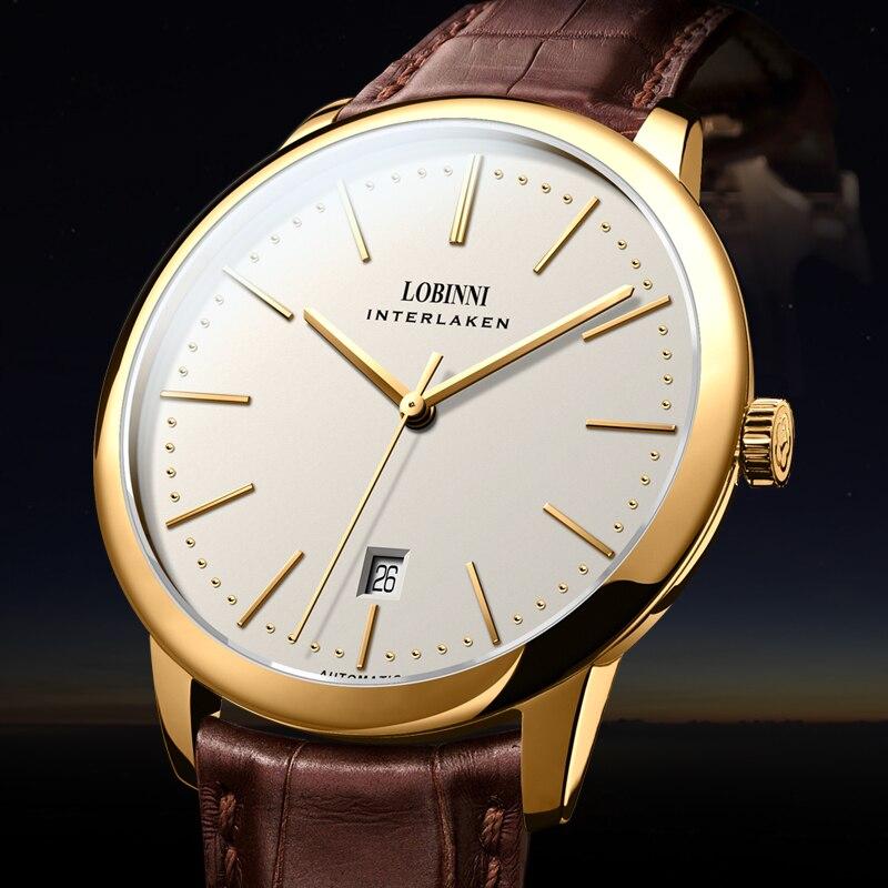 Switzerland LOBINNI Men Watches Luxury Brand Venus Chronograph Manual Mechanical Men's Clock Sapphire relogio masculino L12028 4|Mechanical Watches| |  - title=
