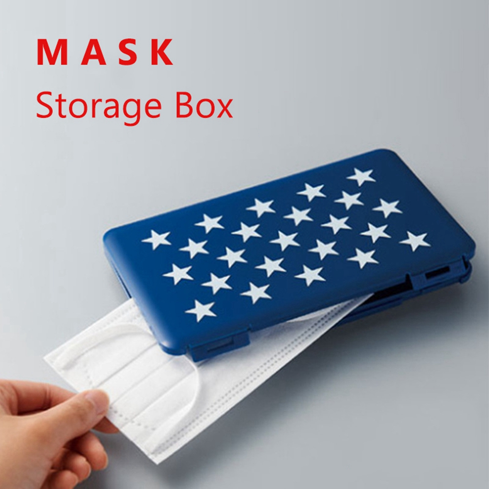 Portable Face Masks Container Dustproof Mask Storage Box Easy Carrying Protective Mouth Mask Storage Organizer Mask Case