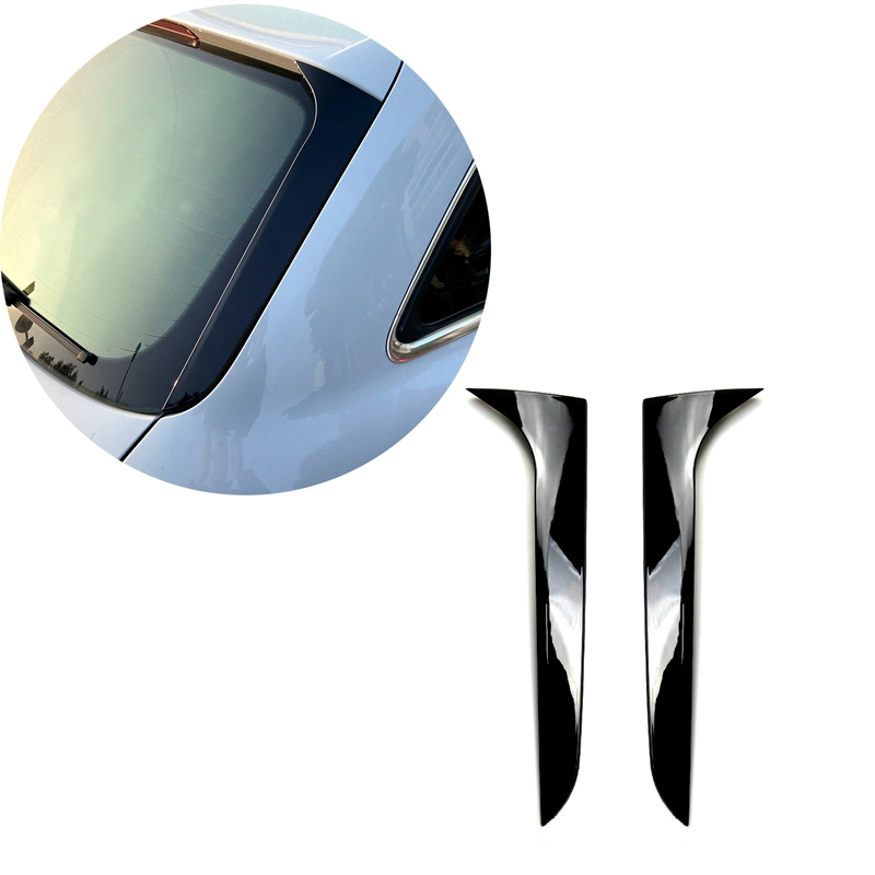 Rear Side Wing Roof Spoiler Stickers Trim Cover Gloss Black for A u d i A4 B8 Travel Edition Allroad Avant 2009-2016