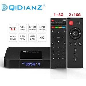 Image 1 - DQiDianZ Android 8.1 TX3mini Smart TV BOX Amlogic Quad Core Multimedia 2.4G Wifi KD Screen Display TX3 MINI Set Top Smart box