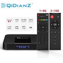 DQiDianZ Android 8.1 TX3mini Smart TV BOX Amlogic czterordzeniowy multimedialny wyświetlacz 2.4G Wifi KD TX3 MINI zestaw Top Smart box
