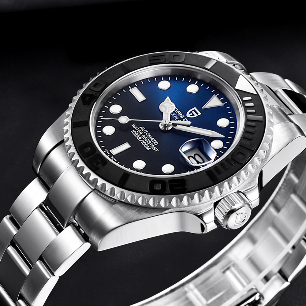 PAGANI DESIGN Sapphire Glass 100m Waterproof 40MM Classic Luxury Watch Automatic Japan NH35A Movement Mechanical Watches