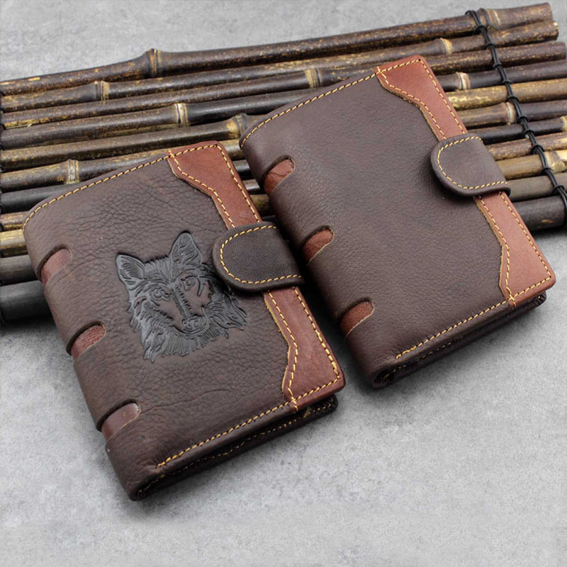 100% <font><b>Genuine</b></font> <font><b>Leather</b></font> <font><b>Wallets</b></font> 2019 Vintage <font><b>Short</b></font> <font><b>Men</b></font> <font><b>Wallet</b></font> Luxury Casual <font><b>Wallet</b></font> <font><b>Men</b></font> Coin Pocket billetera hombre porte feuille image