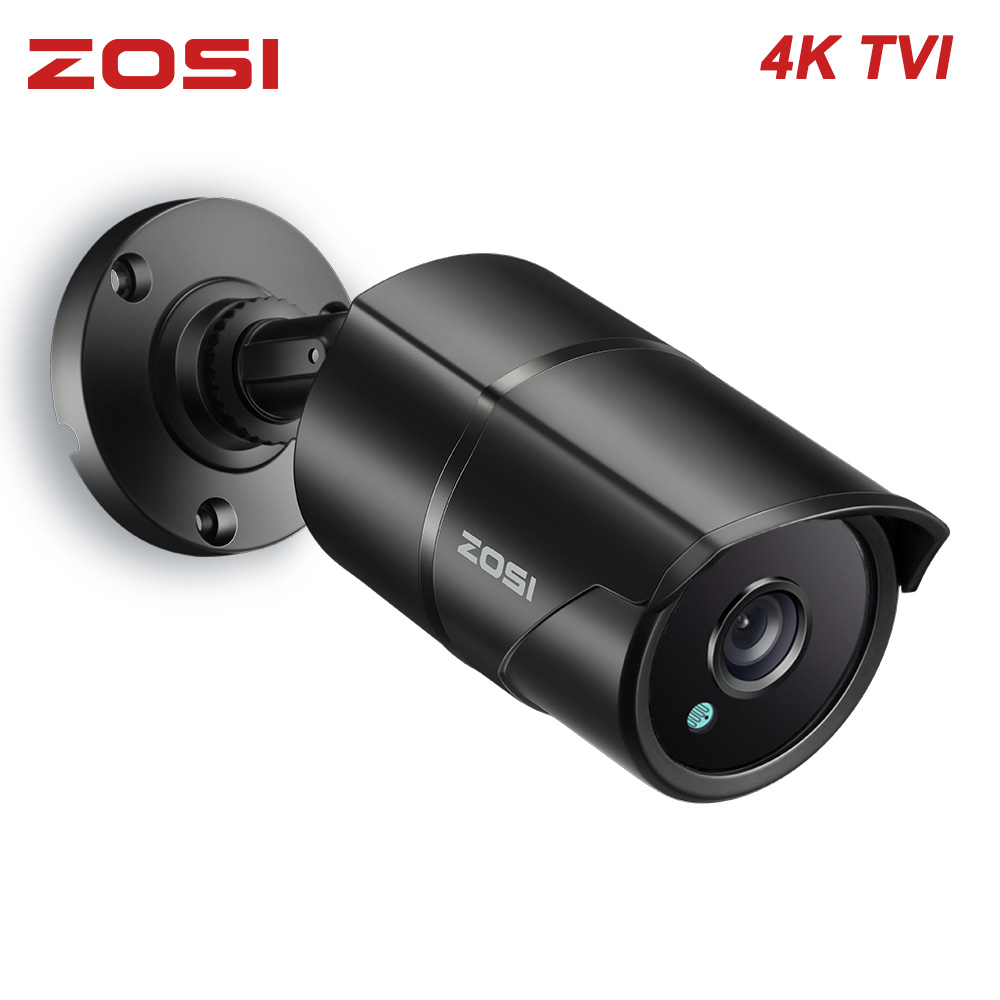 "ZOSI 4 K 8MP 1/3. 3 ""TVI CMOS Bullet CCTV Luar Keamanan Rumah Video Waterproof IP67 Nightvision Kamera Pengawasan"