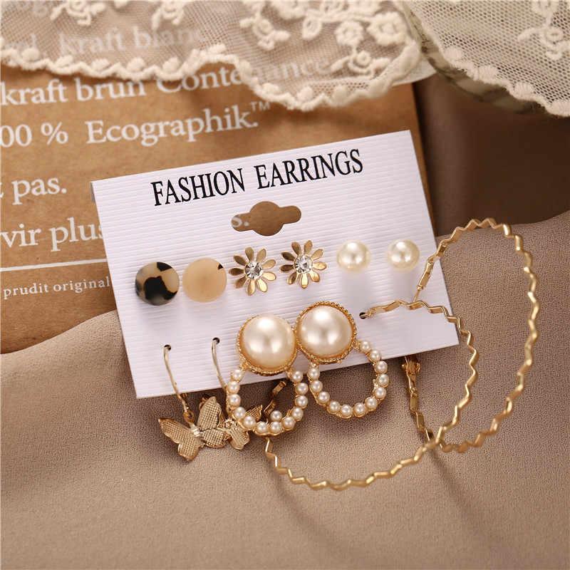 17Km Vintage Kwastje Acryl Oorbellen Voor Vrouwen Bohemian Oorbellen Set Grote Dangle Drop Earring 2020 Brincos Vrouwelijke Mode-sieraden